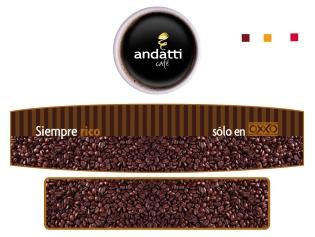 Fotografía para letrero en tienda OXXO Café Andatti