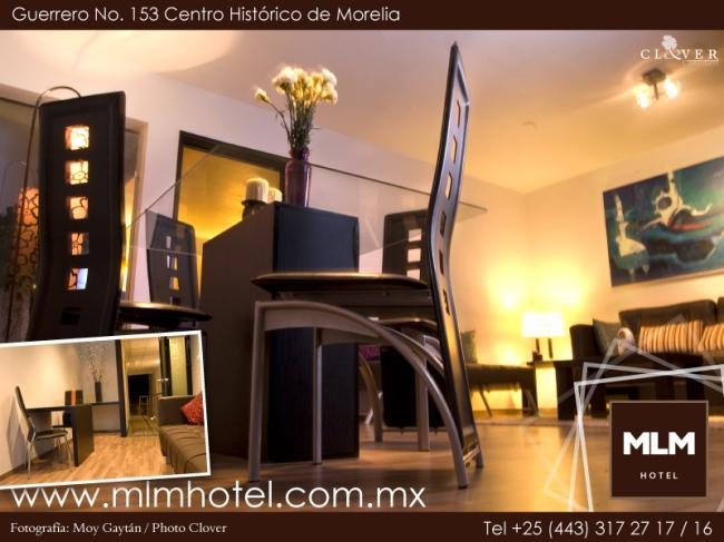 Fotografía para hotel MLM en el centro histórico de Morelia